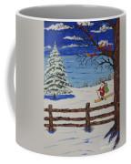 Santa On Skis Coffee Mug