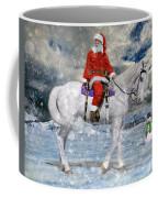 Santa Rides To Town Coffee Mug