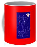 Santa Rudolph Stars Blue 2 Coffee Mug