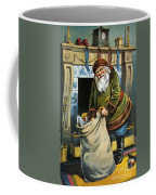 Santa Unpacks His Bag Of Toys On Christmas Eve Coffee Mug
