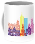 Santiago De Cali Skyline Pop Coffee Mug