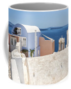 Santorini Blue House In Oia Coffee Mug