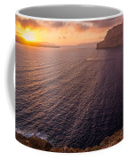 Santorini Caldera Sunset Coffee Mug