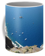Santorini Old Port At Fira Coffee Mug
