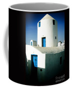 Santorini Silo With Border Coffee Mug
