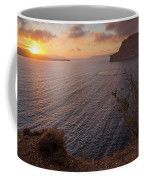 Santorini Sunset Caldera Coffee Mug