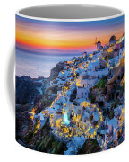 Santorini Sunset Coffee Mug