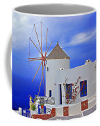 Santorini Windmills Coffee Mug
