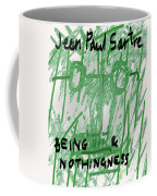 Sartre Poster Jp  Coffee Mug