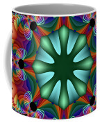 Satin Rainbow Fractal Flower II Coffee Mug