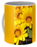Satin Yellow Florals Coffee Mug