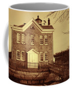 Saugerties Lighthouse Sepia Coffee Mug by Nancy De Flon