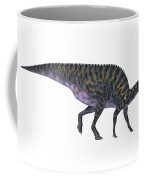 Saurolophus On White Coffee Mug