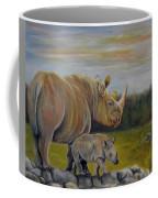 Savanna Overlook, Rhinoceros  Coffee Mug