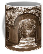 Savannaha Sepia - Wormsloe Plantation Gate Coffee Mug