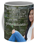 Save A Girl Coffee Mug by Denise Bird