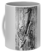 Sax French Horn And Trumpet Coffee Mug