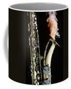 Saxophone With Smoke Coffee Mug by Garry Gay