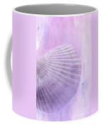 Scallop Sea Shell In Purple Coffee Mug by Betty LaRue