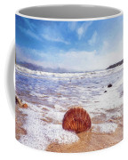 Scallop Shell On The Beach - Impressions Coffee Mug