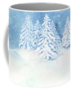 Scandinavian Winter Snowy Trees Hygge Coffee Mug