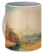 Scarborough Town And Castle Morning Boys Catching Crabs Coffee Mug