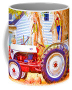 Scarecrow And Pumpkins Coffee Mug