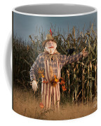Scarecrow In A Corn Field Coffee Mug
