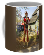 Scarecrow Walking On Stilts Coffee Mug