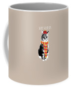Scarf Weather Cat- Art By Linda Woods Coffee Mug