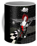 Scarlet Checkers Coffee Mug