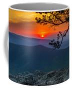 Scarlet Sky At Ravens Roost Panorama I Coffee Mug