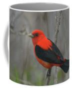 Scarlet Tanager On Stalk Coffee Mug