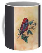 Scarlet Tanager - Acrylic Painting Coffee Mug