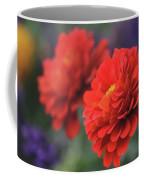 Scarlet Zinnias Coffee Mug