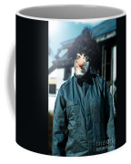 Scary Clown With Coat Coffee Mug