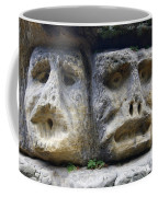 Scary Stone Heads Coffee Mug