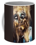 Scary Zombie Pulling Funny Face  Coffee Mug