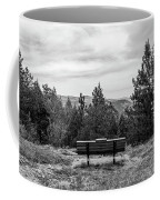 Scenic Bench In Black And White Coffee Mug