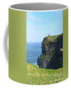 Scenic Lush Green Grass And Sea Cliffs Of Ireland Coffee Mug