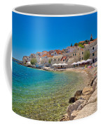 Scenic Mediterranean Beach In Primosten Coffee Mug