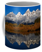 Scenic Teton Fall Reflections Coffee Mug
