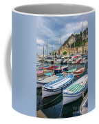 Scenic View Of Castle Hill And Marina In Nice, France Coffee Mug
