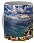 Scenic View Of Eastern Crete Coffee Mug by David Smith