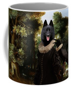 Schipperke Art Canvas Print - Forest Landscape With A Hunter And Noble Lady Coffee Mug