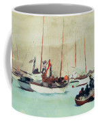Schooners At Anchor In Key West Coffee Mug by Winslow Homer