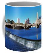 Scioto River With Waterfall Coffee Mug