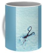 Scissors In Snow  Coffee Mug