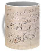 Score Sheet Of Moonlight Sonata Coffee Mug