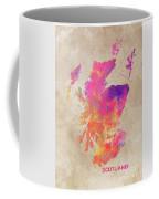 Scotland Map Coffee Mug